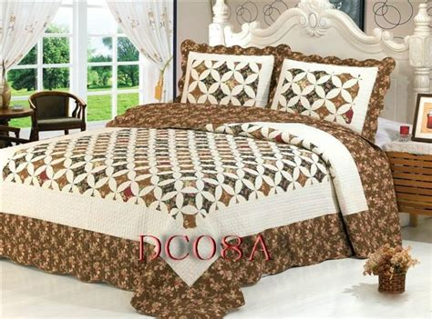 Bed Settings by Patchwork 100 Cotton Quilt Bed Setting 3pcs 4pcs Dd