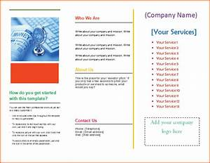 4 pamphlet template word bookletemplateorg With template for brochure in microsoft word