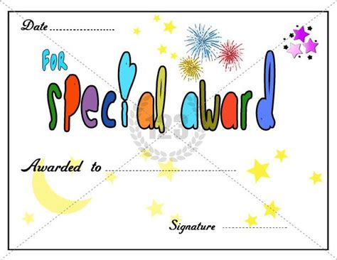 award certificates images  pinterest award