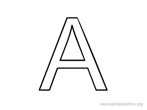 Printable Letters A Coloring Alphabet Letter A