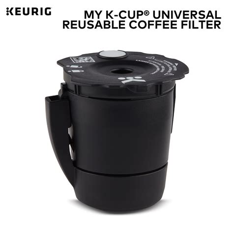 The use of tea leaves, hot cocoa, or other powdered beverages is not recommended. Keurig My K-Cup Universal Reusable Ground Coffee Filter ...
