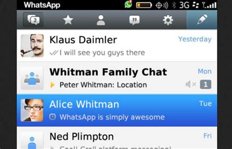 whatsapp para blackberry 10 est 225 disponible para descargar