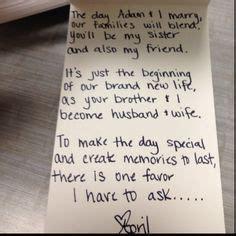 sister bridesmaid proposal google search