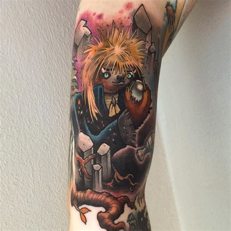 guy  multiple tattoos  sloths  characters