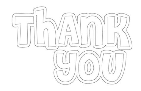 Thank You Cards Coloring Pages Bestofcoloringcom