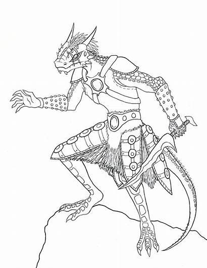 Skyrim Argonian Oc Chameleon Drawing Fog Runner