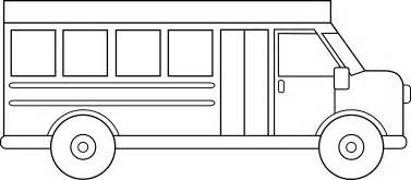 outline of a bus Colouring Pages  Bus Drawing