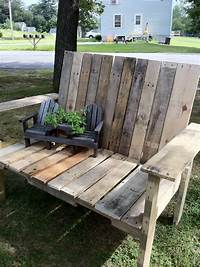 how to build a wood bench How-To: Pallet Wood Bench - Upcycled Ugly