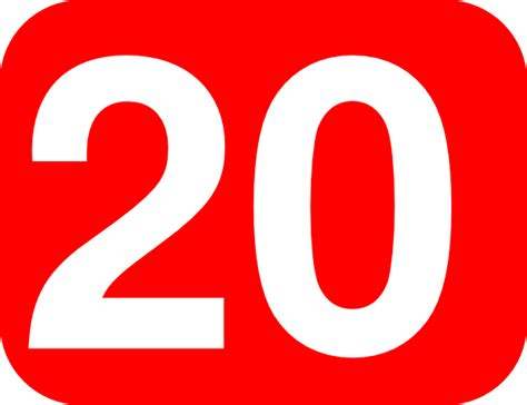 Number 20 Red Background Clip Art At Clker.com