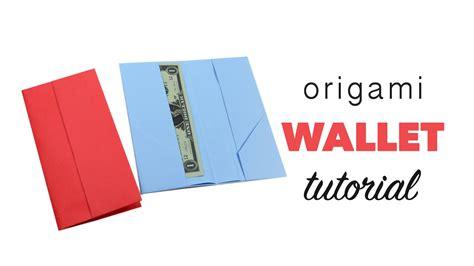 easy origami wallet tutorial diy paper kawaii youtube
