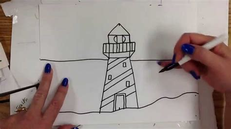 kids  draw lighthouse youtube
