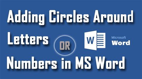 how to add character to the outside of your home how to add circle outside of any character in ms word youtube