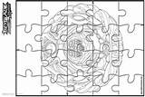 Beyblade Burst Coloring Pages Template Puzzle Printable Adults sketch template