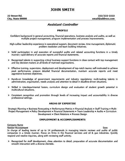 Sample Controller Resume  Best Professional Resumes