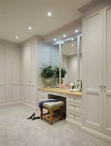 Built in dressing table closet contemporary with neutral