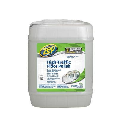 zep 5 gallon high traffic floor polish zuhtff5g the home