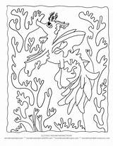 Coloring Sea Seaweed Kelp Sheets Printable Dragon Creatures Ocean Under Seahorse Cartoon Leafy Wonderweirded Silhouette Worksheets Ll Seadragon Nature Clipart sketch template