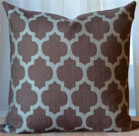 Blue Brown Throw Pillows by Brown Pillow Moroccan Pillow Modern Throw Pillow