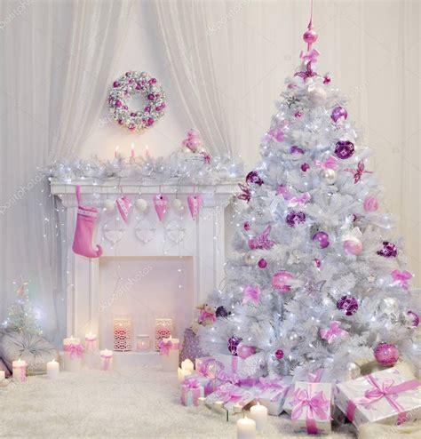 weihnachtsbaum interieur xmas kamin in rosa geschm 252 ckt