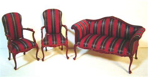 Settee And Chair Set by King George Iii Settee Chair Set Bespaq Miniatures