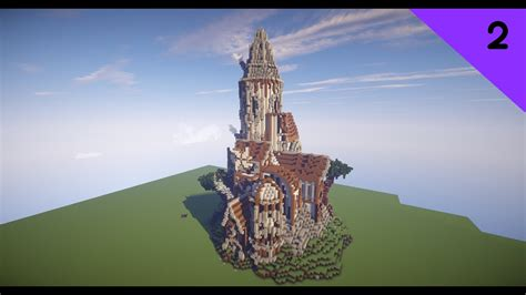minecraft timelapse  steampunk castle youtube