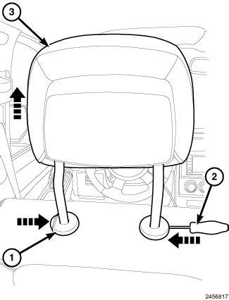 Front headrest removal   DodgeForum.com