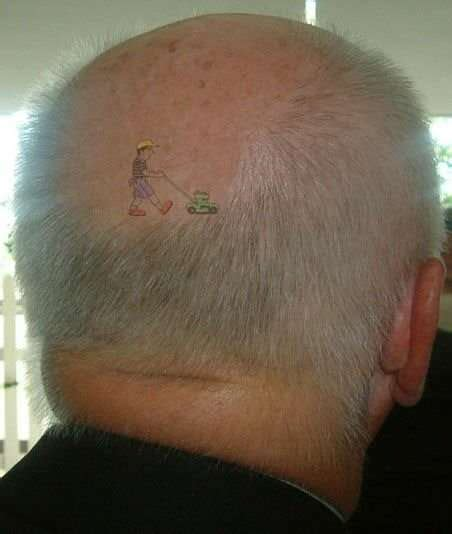 lawn mower tattoo funny pictures entertainment