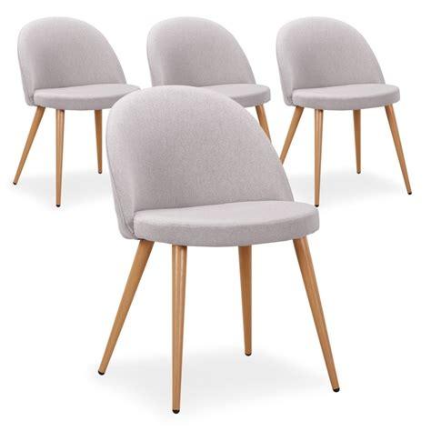 chaise pas cher grise chaise scandinave tissu gris lot de 4 pas cher