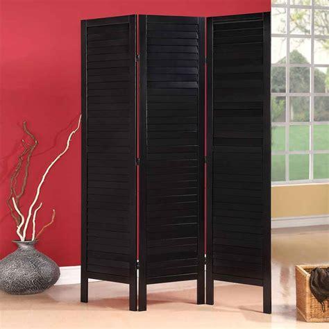 wood screen divider trudy black wood shutter design room divider folding screen 3 panels shoji