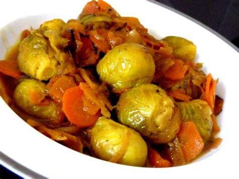 cuisine choux de bruxelles recettes de choux de bruxelles et carottes