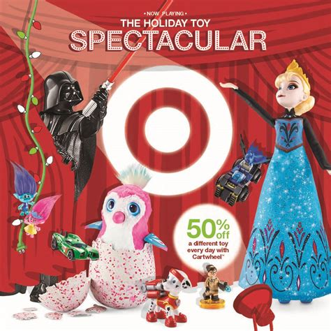 target cartwheel 50 off a different toy each day starts