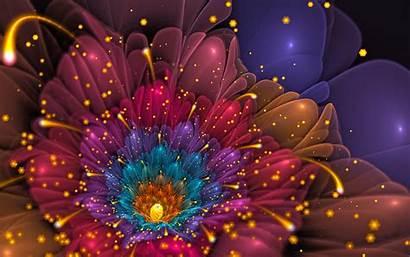 Glitter Flower Backgrounds Wallpapers Desktop Colorful Artistic