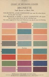 Chart of Becoming Colors, Brunette, Taylor System of Color ...