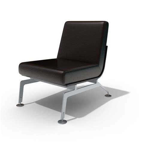 modern black leather chair 3d model cgtrader