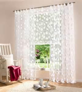 rollos kinderzimmer 1 st gardine vorhang 140 x 245 weiß blätter ausbrenner schlaufen schal neu ebay