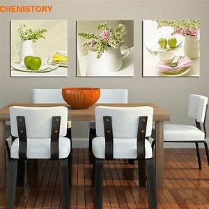 Aliexpresscom buy unframed 3pcs fruit and floral wall for Best brand of paint for kitchen cabinets with unframed canvas wall art