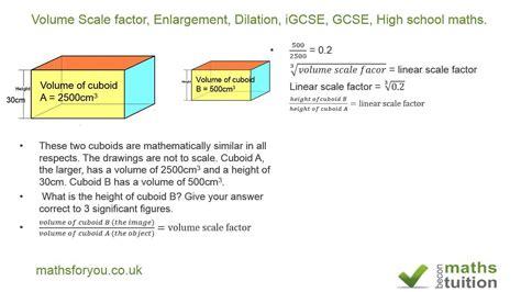 Volume Scale Factor, Enlargement, Dilation, Igcse, Gcse