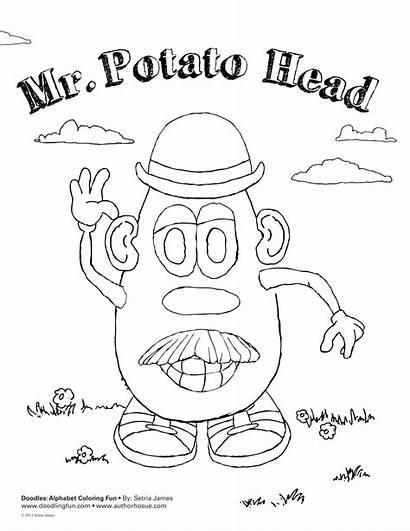 Potato Coloring Head Mr Pages Senses Printable