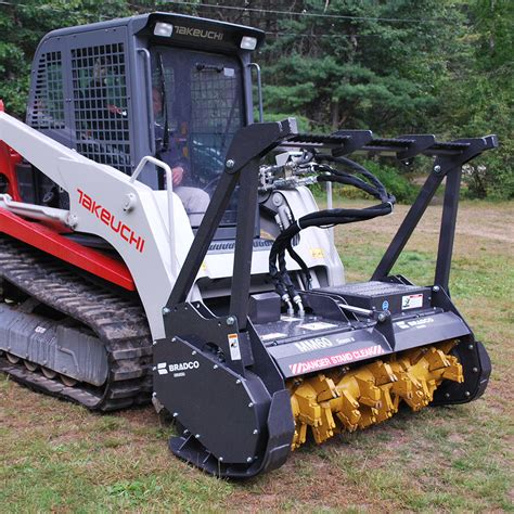 bradco series ii skid steer mulcher attachment skid steer solutions