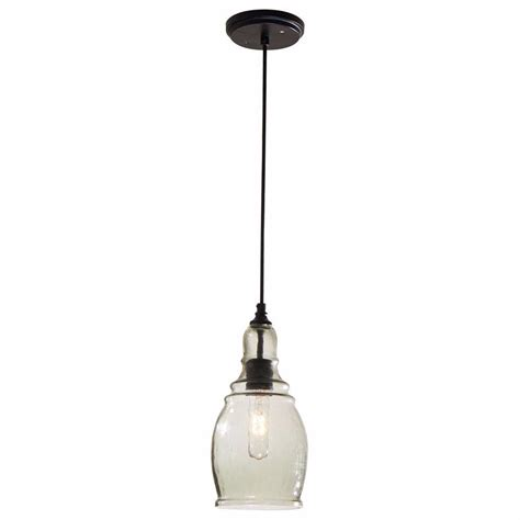 hton bay interiors 1 bulb black mini glass hanging