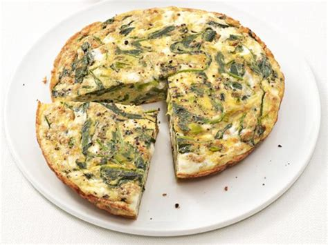 spinach  feta frittata recipe food network kitchen