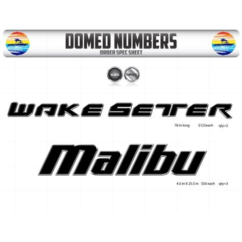 Malibu Boats Logo Font by All Products Domed Numbers