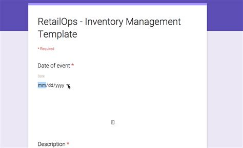 google forms for inventory attaching a google form to your inventory management template