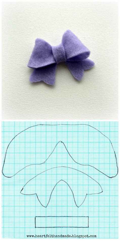 felt bow template heartfelt handmade s tutorials
