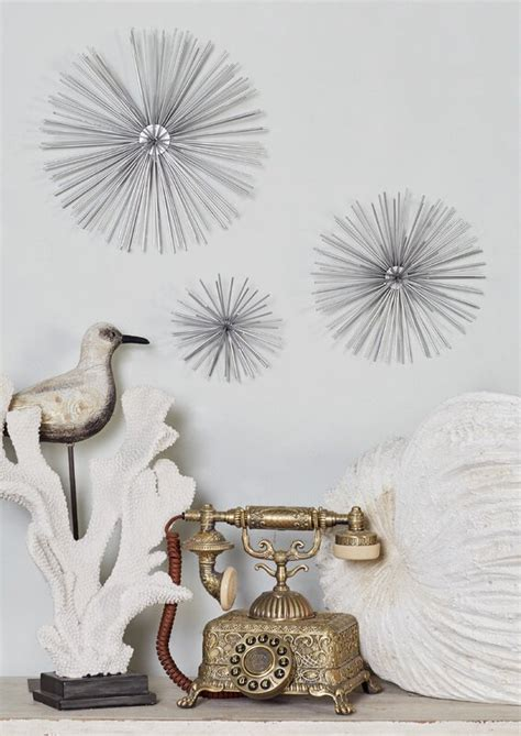 An elegant silver finish makes this an attractive wall decor set. Langley Street 3 Piece Star Metal Wall Decor Set & Reviews ...