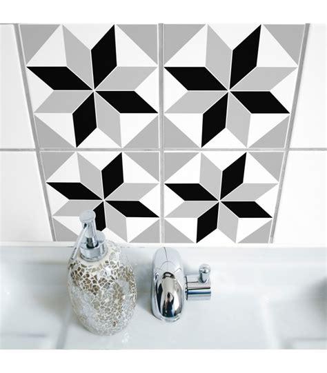 sticker salle de bain carrelage stickers pour carrelage de salle de bain ou cuisine polygon wadiga