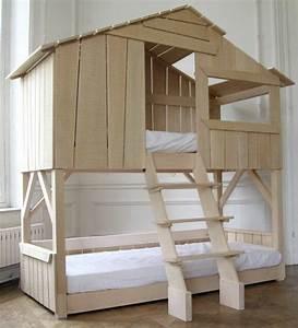 Lit Cabane Pour Enfant : le plus beau lit cabane pour votre enfant lit maison maisons en bois et beaux lits ~ Teatrodelosmanantiales.com Idées de Décoration