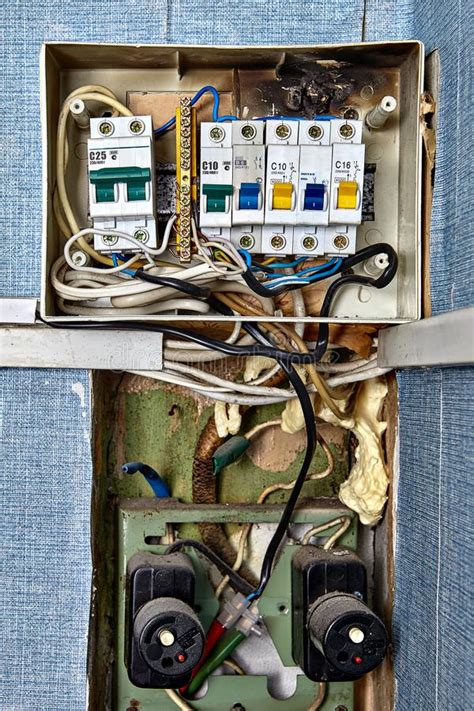 Burnt Breaker Fuse Box by Burnt Circuit Board Stock Photo Image Of Wiring