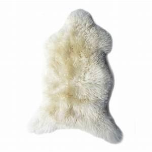 Peau De Mouton : peau de mouton poils longs noirs achat en ligne fab design ~ Teatrodelosmanantiales.com Idées de Décoration
