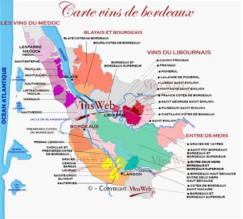 Carte Vin Aoc by Vin Bordeaux Carte